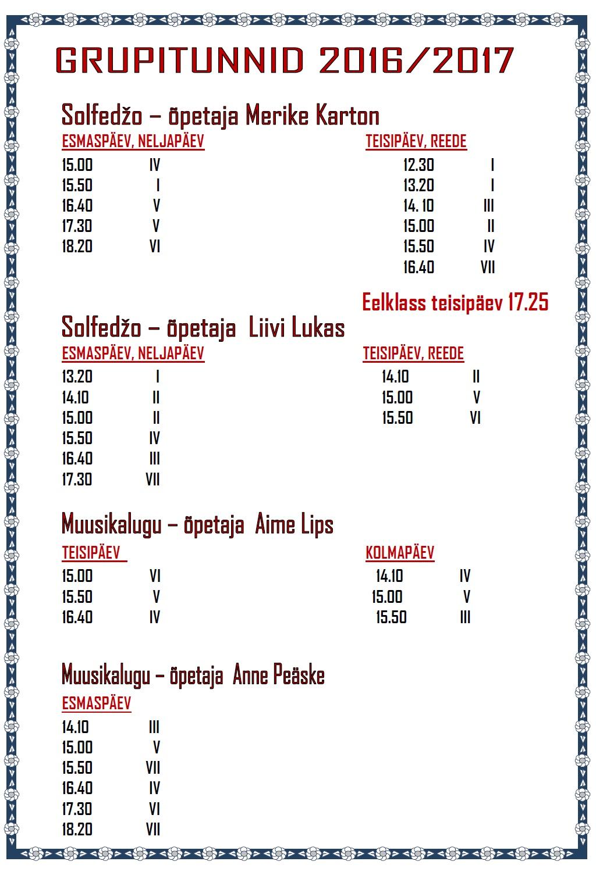UUS 2016-17 GRUPITUNNID